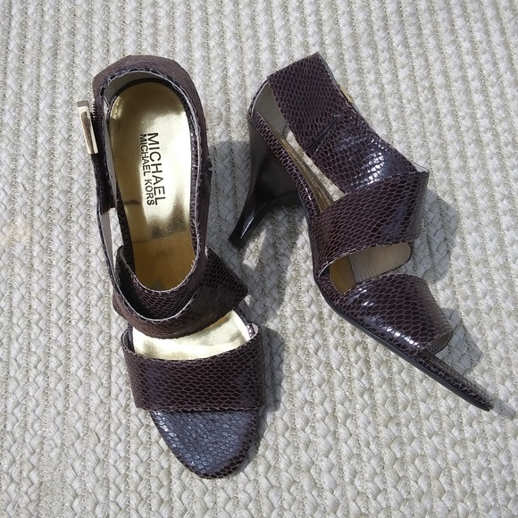 MICHAEL Michael Kors Shoes - Michael Kors Leather Heeled Dress Sandals Sz 7.5